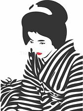 ART PRINT POSTER PITTURA DT GIAPPONE GEISHA ROSSETTO ZEBRA lfmp0362