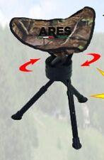 (350MB) SGABELLO 3 PIEDI TELESCOPICO SEDILE GIREVOLE CACCIA, PESCA VICARI SPORT