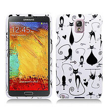 For Samsung Galaxy Note 3 Rubberized HARD Case Snap Phone Cover Black Cats