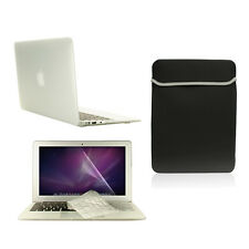 "4 in1 Rubberized CLEAR Case for Macbook Air 11""+ Keyboard Cover+ LCD Screen+ Bag"
