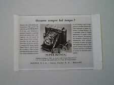 advertising Pubblicità 1941 ZEISS IKON SUPER IKONTA