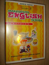 CD ROM N° 4 INTERACTIVE ENGLISH JUNIOR AL RISTORANTE DEAGOSTINI CORSO INGLESE