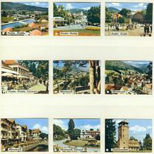 9er Streichholzetikettenserie 47 Städtebilder- Baden-Baden,Herrenalb,Teufesmühle