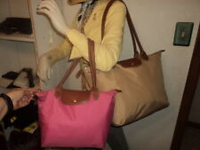 Longchamp Le Pliage France Lot of 2 for repair Tote Shoppers Bag Beige & Pink