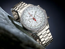 DETOMASO FIRENZE WHITE CHRONOGRAPH GENTS WATCH STAINLESS STEEL 10ATM NEW