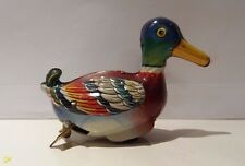 Vintage tin friction roll duck toy made in US Zone Germany DRGM, CKO Kellermann?