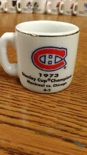 NHL STANLEY CUP CRAZY MINI MUG MONTREAL CANADIENS 1973 CHAMPS W/OPPONENT &SCORE