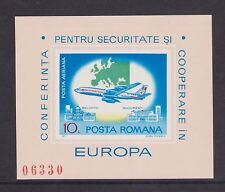 UMM MNH STAMP SHEET ROMANIA EUROPEAN SECURITY CONFERENCE 1977 IMPERFORATE