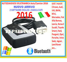 AUTO DIAGNOSI MULTIMARCA 2016 FULL 2 SOFTWARE PIU BANCA DATI TECNICI INCLUSA