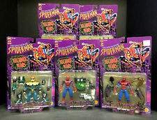 1996 TOY BIZ THE SPECTACULAR SPIDER-MAN TECHNO-WARS COMPLETE 5 FIGURE SET D68
