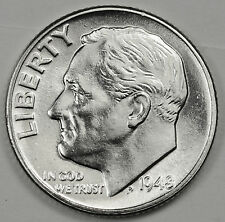 1948-p Roosevelt Dime.  Fully Separated Horizontal Torch Line's.  BU   (INV. E.)