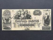United States America USA 20 Twenty Dollars Canal Bank New Orleans 18xx UNC