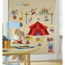 New CIRCUS ANIMALS WALL STICKERS Lions Elephants Monkeys Decals Kids Room Decor
