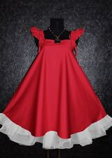 RED GOTHIC KAWAII VINTAGE RUFFLE BABYDOLL DRESS Plus Size 22 24 Ladies Cosplay