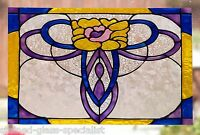 VICTORIAN WINDOW CLING STAINED GLASS EFFECT DECORATION DECAL SUN CATCHER MOTIF