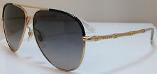 Gucci Aviator Sunglasses GG 4276S J5GDX 59 12 140 Gold Black Frame Gray Gradient