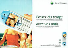 PUBLICITE ADVERTISING 125  2002  SONY ERICSSON  T68i (2pages) téléphone mobile
