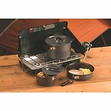 Coleman 6 Pcs Cookware Set Portable Outdoor Camping BBQ Grill Cooking Pot Pan