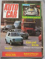 Autocar 19/7/1975 featuring Porsche 917, Datsun 260C, Fiat 126, Enfield, Jensen