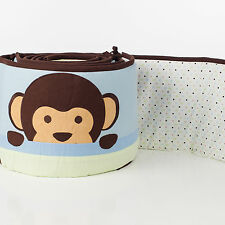 Pam Grace Creations 4-Piece Maddox Monkey Crib Bumpers
