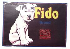 Vintage Paper FIDO Fruit ORANGES CRATE Advertising LABEL California U.S.A. 9X12
