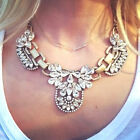New Crystal Cluster Pendant Chain Bib Statement Necklace Choker Chunky