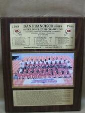 1988 San Francisco 49ers SUPER BOWL XXIII Champions Team Plaque Photo Record
