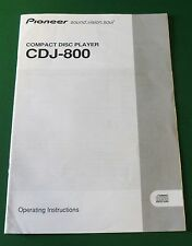 Original Pioneer CDJ-800 Operating Instructions