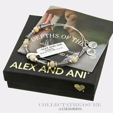 Authentic Alex and Ani Seeds Of Promise,Cirrus Rafaelian Silver Charm Bangle