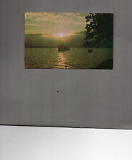 Sunset over Loch Lomond With Ferry unposted card  A015