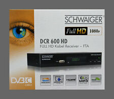 Full HD Kabel Receiver **Schwaiger** DCR 600 TV-Receiver HDTV 1080p Germany
