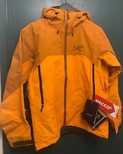 NWT MENS Arc'teryx RUSH GORE-TEX JACKET MEDIUM Color Oak Madras / Orange $699