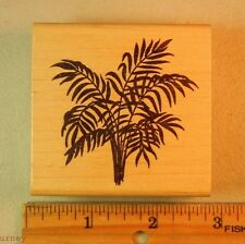 Rubber Stamp PALM BUSH TREE LEAVES #5344 by THE STAMP BARN