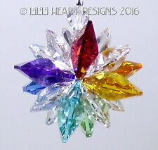 m/w Swarovski Mini SUPER STAR CHAKRA Car Charm Suncatcher Lilli Heart Designs
