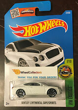 Bentley Continental Supersports #77 WHITE * 2016 Hot Wheels * Case D * W75