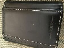 Guess Mens Black Leather Trifold Wallet