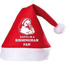 Santa is a Birmingham Fan Christmas Hat.Secret Santa Gift
