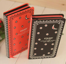 Starry Hard Cover Red Balck Paper Notebook Sketchbook Diary Journal Planner #B