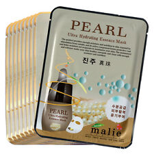 9 PCS Pearl Facial Skin Care Mask Pack Essence Collagen Moisture Malie