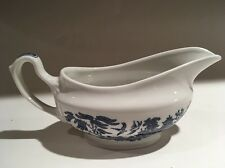 Churchill Blue Willow China - gravy boat - Perfect Condition -Made in England