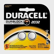 2-Pk 2032 DURACELL 3 Volt Lithium Battery DL2032 CR2032 Medical Security Fitness