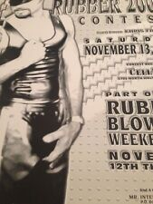 Mr International Rubber 2000 Contest Chicago / Vintage Poster / Gay Culture
