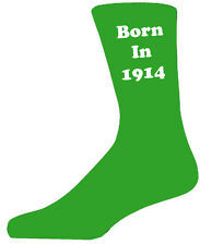 1914 Green&White - Colourful Year Novelty Socks - Special Socks - Perfect Gift