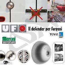 Cerradura MERONI UFO, de acero de alta seguridad para furgonetas industriales.