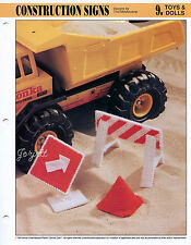 Construction Signs ~ Playtime Cone & More, Annie's plastic canvas patterns