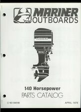 Orig 1979 Mariner 140 HP Outboard Motor/Engine Illustrated Parts List Catalog