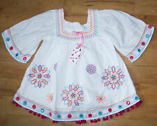 Brand New Girls Butterfly Matthew Williamson White Embroidered Smock Top Age 10.