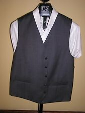 Jos A Bank classic suit seperates vest in solid cambridge Grey Size XXL Reg Fit