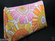 New Clinique Cosmetic Case-Orange-Pink