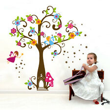 Large Fairy Tree House Wall Stickers Removable Repositionable for Girls Room